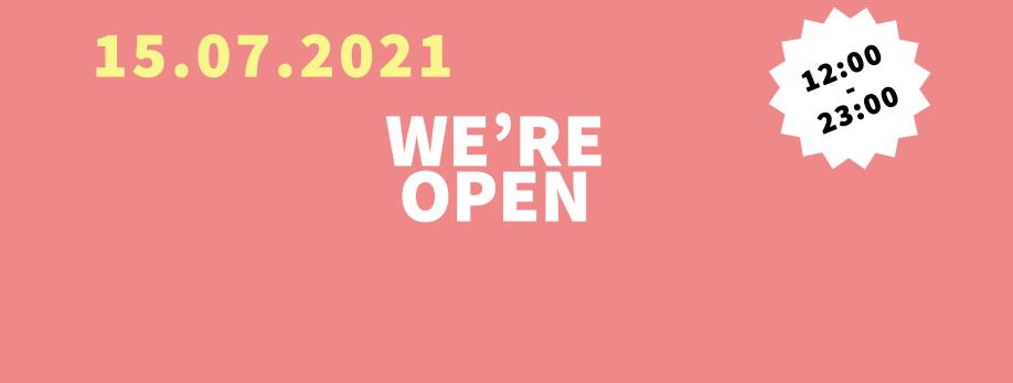 Unser Restaurant wurde renoviert und ist am 15. Juli um 12:00 Uhr geöffnet.